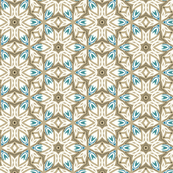 Star Geometric in Tan and White with Blue