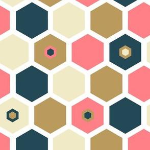 Hexagon Vanilla/Strawberry - Ice