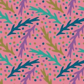 Leaves-Pink