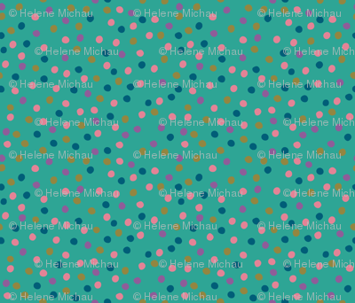 Leaves Dots Green