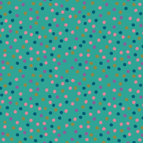 Leaves Dots Green fabric by leventetladiscorde on Spoonflower - custom fabric