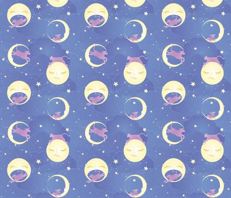 Moon Cows fabric by kayvandyken on Spoonflower - custom fabric