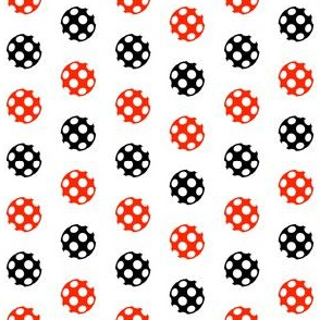 Red and Black Polka Dot Chevron