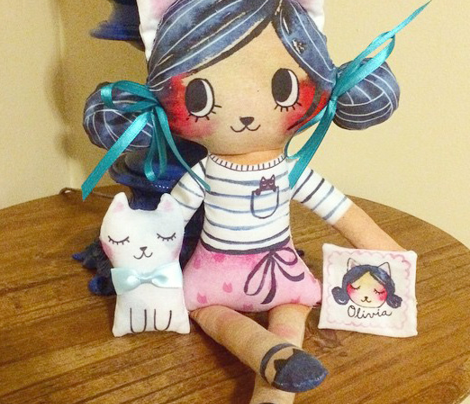 Olivia Kitty Girl Doll - Sew Your Own!