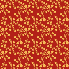 Yellow_Leave_on_Red