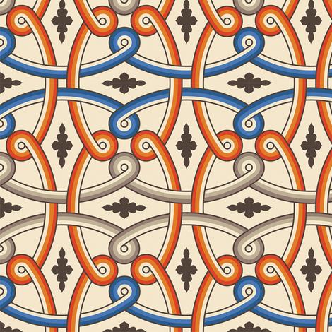 Khirbat Al-Mafjar 1a fabric by muhlenkott on Spoonflower - custom fabric