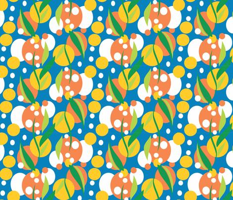 Wattle_light_blue fabric by malolo on Spoonflower - custom fabric