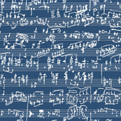 Handwritten Sheet Music // Navy Blue