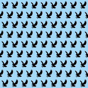 Eagle Flock on Sky Blue
