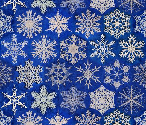 Snowcatcher Snowflakes fabric by snowcatcher on Spoonflower - custom fabric