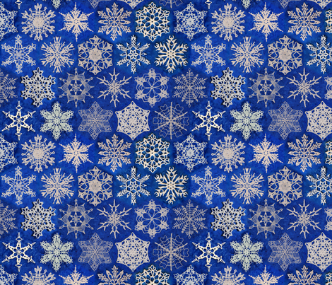 Snowcatcher Snowflakes small fabric by snowcatcher on Spoonflower - custom fabric