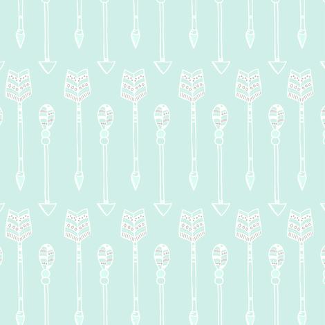 Arrows on mint fabric by innamoreva on Spoonflower - custom fabric