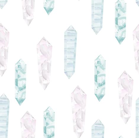 Crystals fabric by innamoreva on Spoonflower - custom fabric