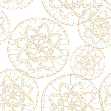 Vintage doily fabric by innamoreva on Spoonflower - custom fabric