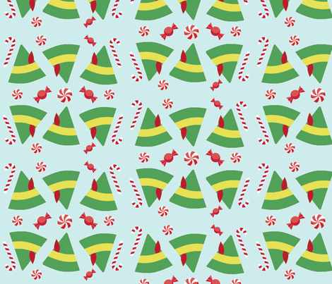 Buddy the Elf Inspired fabric by angiehiller on Spoonflower - custom fabric