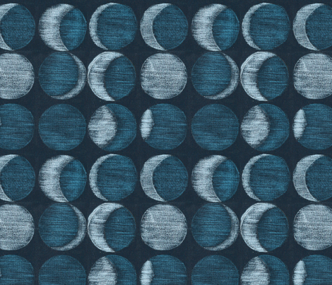 pencil colored moons fabric by quintana on Spoonflower - custom fabric