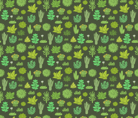 succulents fabric by kostolom3000 on Spoonflower - custom fabric