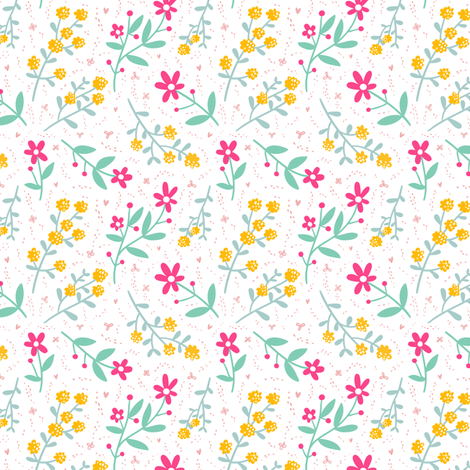 Spring mood fabric by stolenpencil on Spoonflower - custom fabric