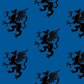 Gryphon Black on Night Sky Blue