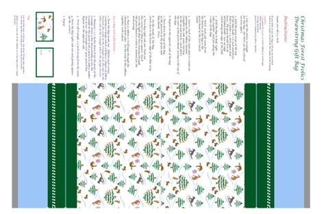 Christmas_Forest_Frolic_Gift_Bag fabric by sleepingdogquilts on Spoonflower - custom fabric