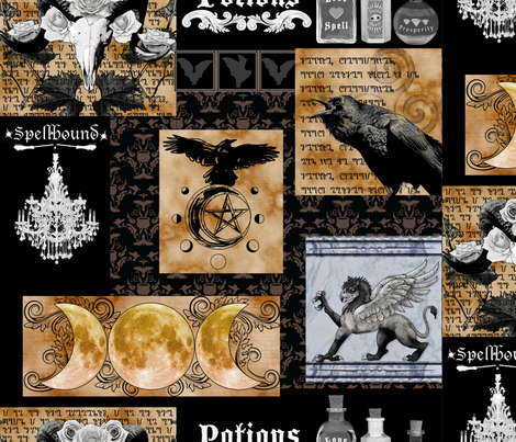 Spells and Potions fabric by tracy_dixon on Spoonflower - custom fabric