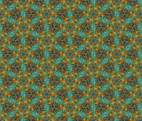 Leaf Hexagon 2 fabric by enid_a on Spoonflower - custom fabric