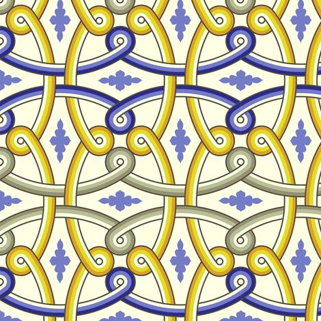 Khirbat Al-Mafjar 1c fabric by muhlenkott on Spoonflower - custom fabric