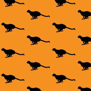 Cheetah Running Gold