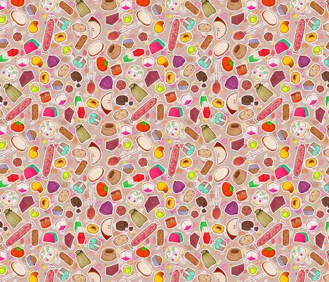 Mexican Candy - khaki fabric by miranema on Spoonflower - custom fabric