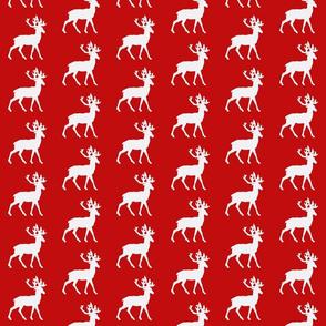 Deep Red Deer-White Deer
