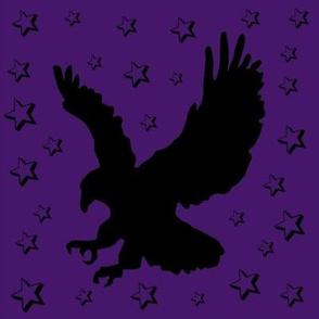 Eagle on Purple with Stars