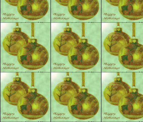 Holiday Golden Ornaments fabric by skylarsfabrics on Spoonflower - custom fabric