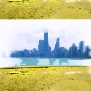 Chicago Skyline with Air Brushed Look