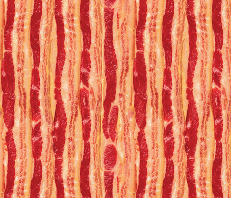 Bacon Slabs fabric by xoxotique on Spoonflower - custom fabric