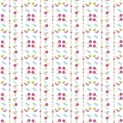 Bye bye Birdy fabric by forestwooddesigns on Spoonflower - custom fabric