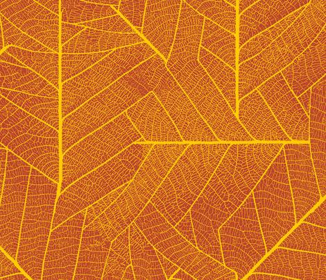 Leaf-fall fabric by ibee_eneich on Spoonflower - custom fabric