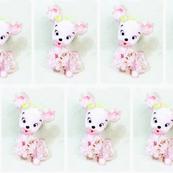 Vintage Pink Bear Tiles