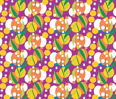 Wattle_purple fabric by malolo on Spoonflower - custom fabric