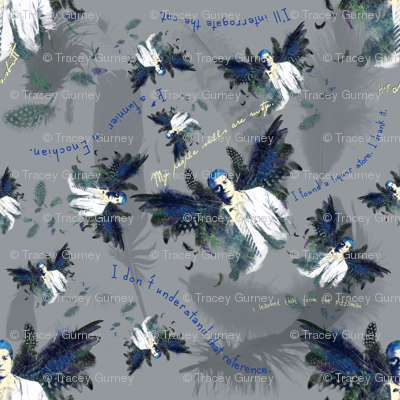 Castiel Falling Feathers with Quotes