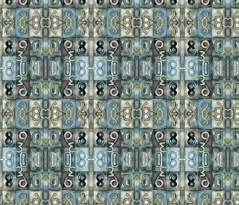 My lucky numbers 3 wallpaper - sanois_passion - Spoonflower