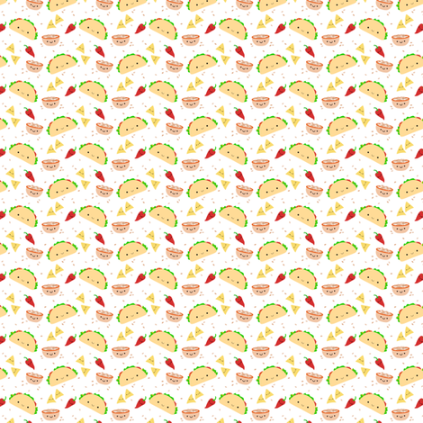 Taco Tuesday Small fabric by clayvision on Spoonflower - custom fabric