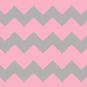 Pink Grey Gray Chevron Zigzag