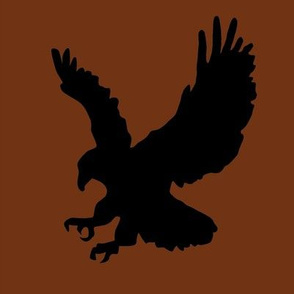 Eagle on Brown Swatch