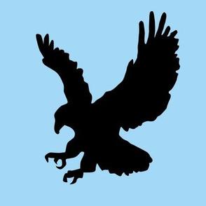 Eagle on Sky Blue Swatch