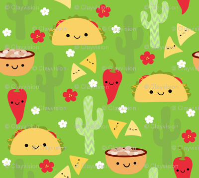 Happy Taco and Friends - Green (small)