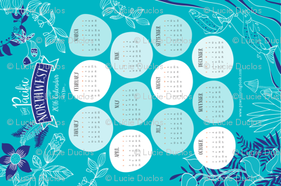 The Pacific Northwest 2016 Calendar
