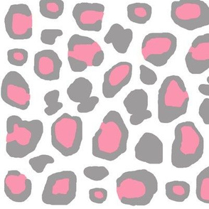 Pink Grey Gray Leopard Animal Print