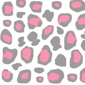 Pink Grey Gray Leopard Animal Print