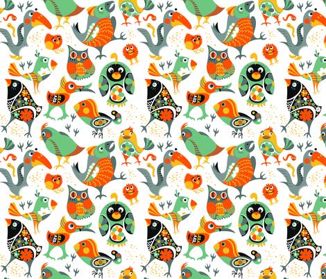 Birds Pattern 2 fabric by nellik on Spoonflower - custom fabric