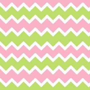 Pink Mint Green Chevron Baby Pastel